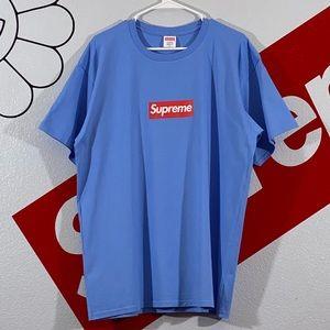 Supreme Box Logo Blue T-Shirt Size XL